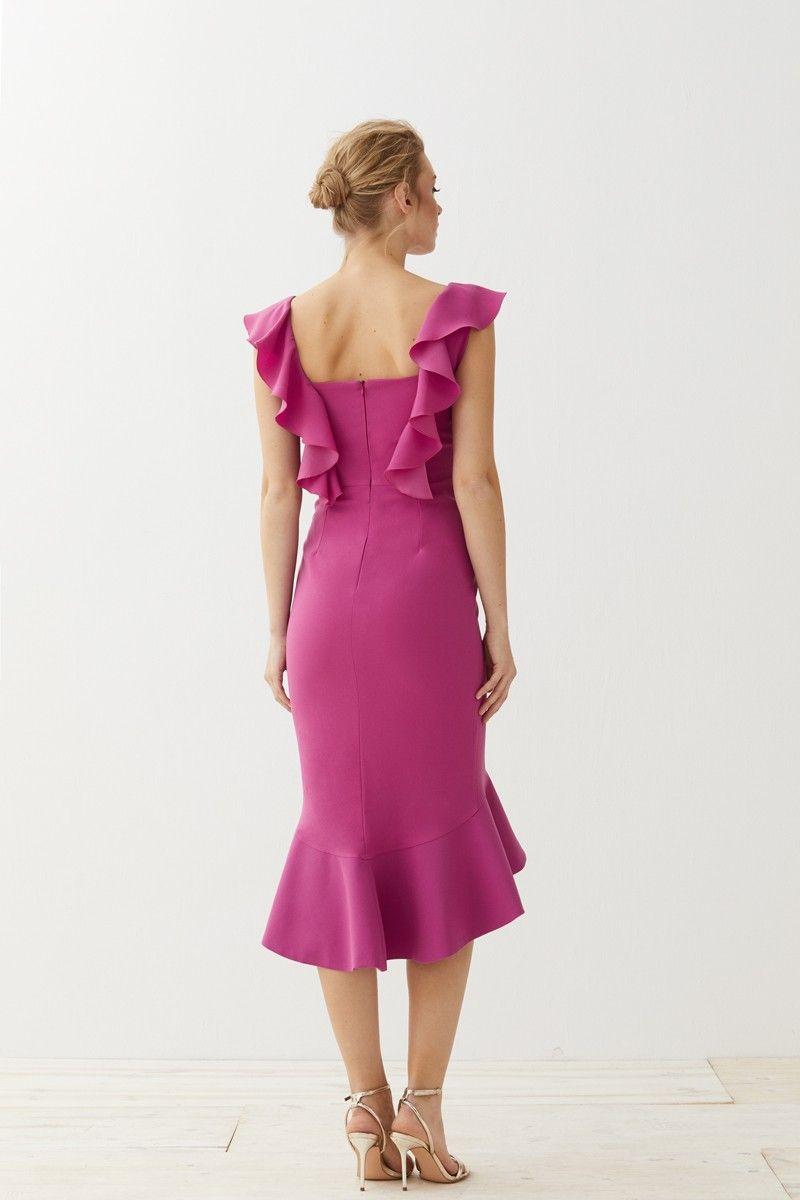 Vestido Corto Escote Corazón Rosa Sirena | Pinterest | Vestidos de ...