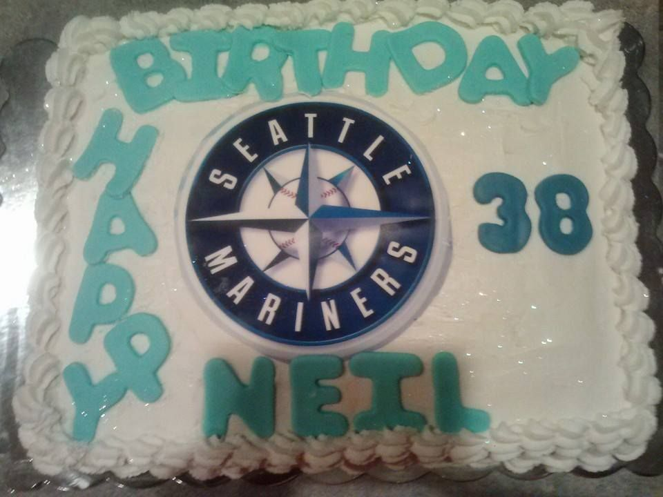 Seattle Mariners Fan Birthday Cake By Cupcakes Bakery Deli Pasco WA