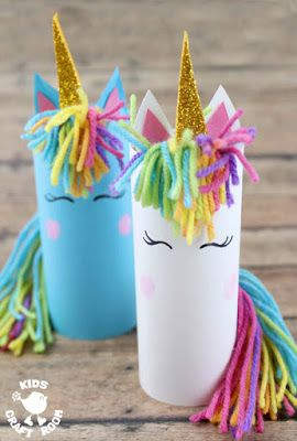 Cardboard Tube Unicorn Craft