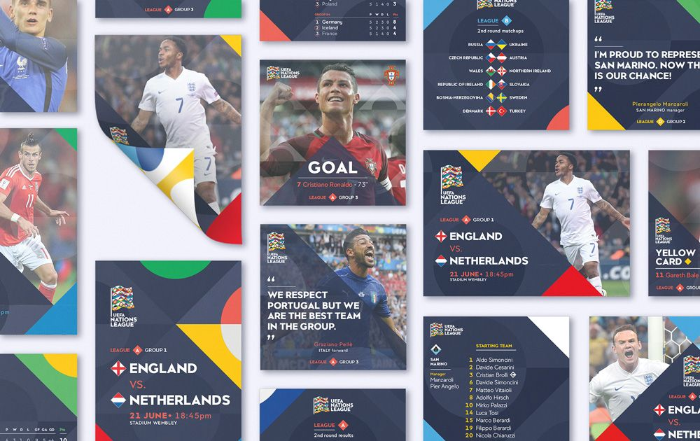 New Logo And Identity For Uefa Nations League By Y R Branding League National National Football Teams