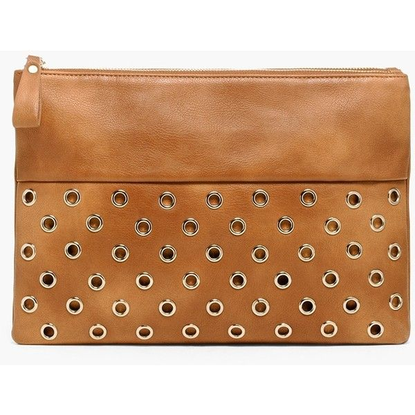 Chico's Jamie Clutch ($99) ❤ liked on Polyvore featuring bags, handbags, clutches, neutral, cognac purse, beige handbags, cognac handbag, beige clutches and beige purse