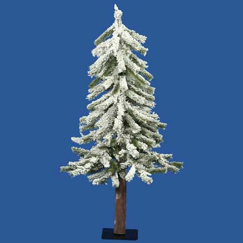 "3' X 22"" FLOCKED ALPINE TREE | Get Organized  #holidaytree #holidaydecor"