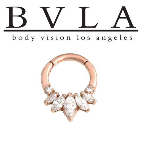 Bvla 14kt Gold Tesseract Genuine Diamond Nose Nostril Septum Ring 14g Body Vision Los Angeles Septum Jewelry Body Jewelry Jewelry