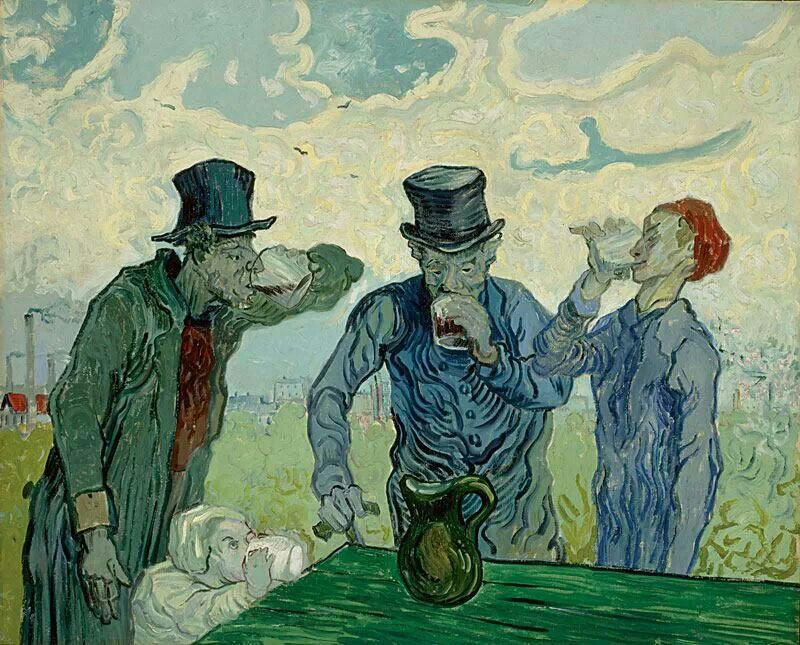 Vincent van Gogh, The drinkers, (after Daumier),1890 while in the ...