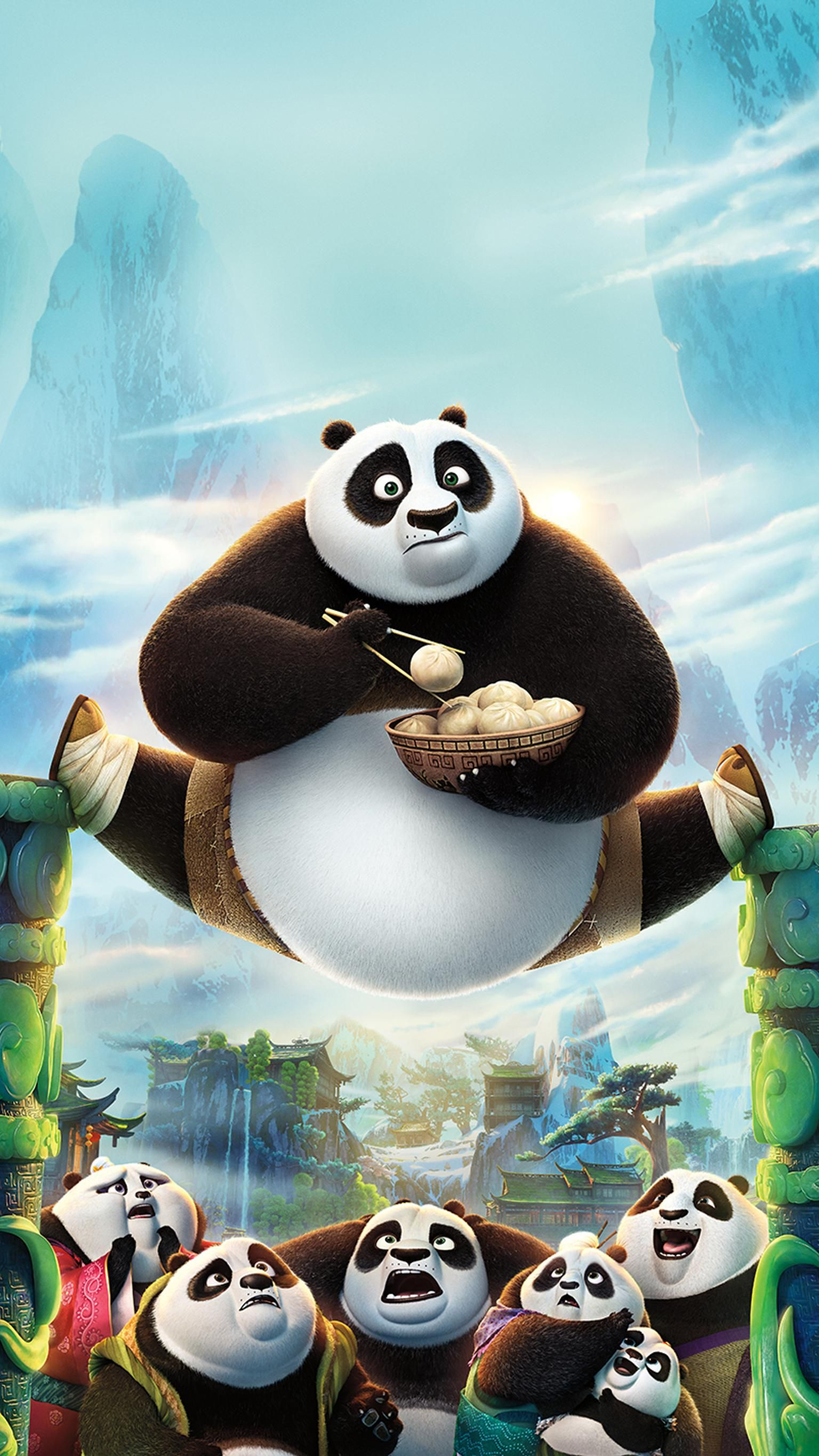 Kung Fu Panda 3 2016 Phone Wallpaper Moviemania Panda Art Kung Fu Panda 3 Panda Wallpapers