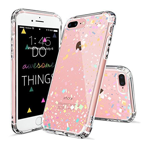 iphone 7 plus case, iphone 8 plus cover, mosnovo colorful confettiiphone 7 plus case, iphone 8 plus cover, mosnovo colorful confetti pattern clear design printed plastic back case with tpu bumper protective case cover for