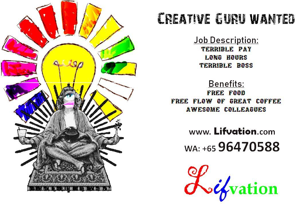 Creative ad guru wanted. Apply now WA
