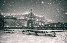 Snow frosted city