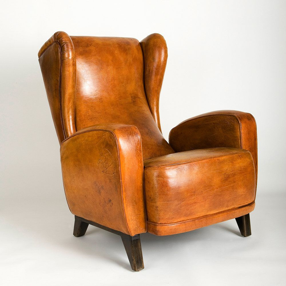 Beaubourg armchair in cognac armchair tufted arm chair
