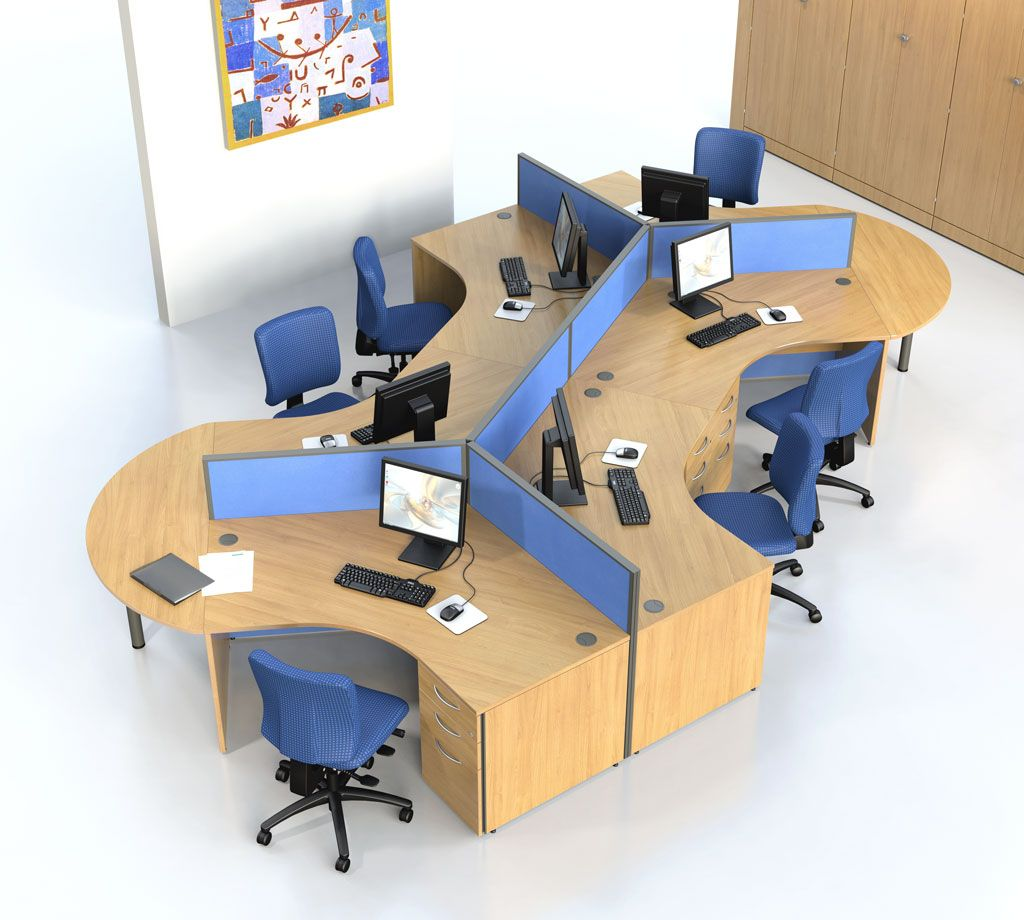 Ideal desks for open plan offices google search office for Office desk layout ideas