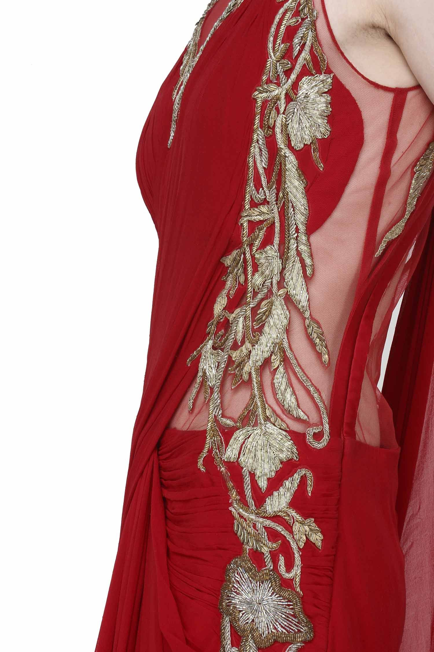 Scarlet saree gown desi swag pinterest scarlet saree and gowns