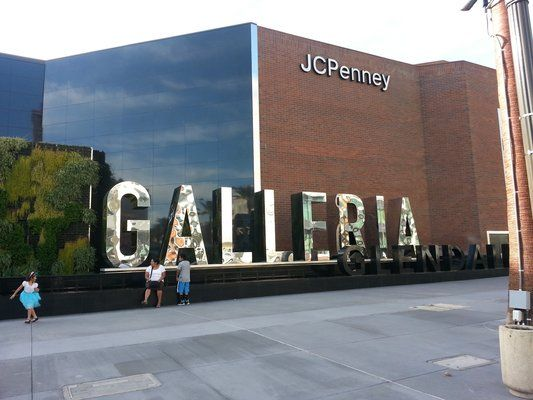 Glendale Galleria Large Identity Letters Polished Stainless