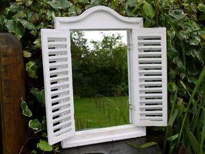 Large Shutter Mirror Shabby Chic Louvre Doors Indoor Or Outdoor Garden Mirror Shutter Mirror Garden Mirrors Mirror Decor
