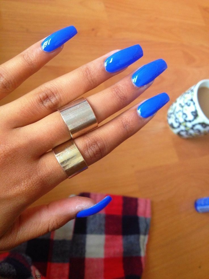 Blue nails & nail art inspirations | Blue acrylic nails, Nail inspo ...