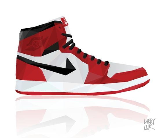 larry luk sneaker art 01 Nike + Air Jordan Triangle Sneaker Art by Larry Luk