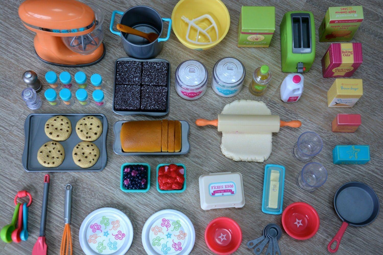 American Girl Doll Gourmet Kitchen Set New Youtube Poppe Goed Om