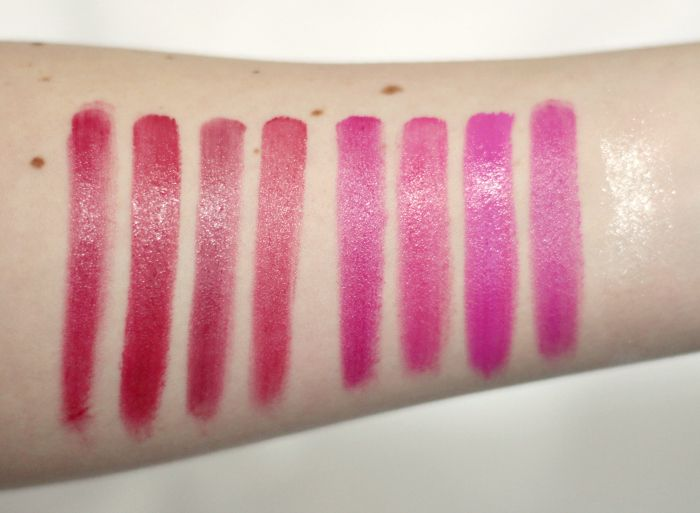 bhcosmetics Ultimate Lips swatches reds