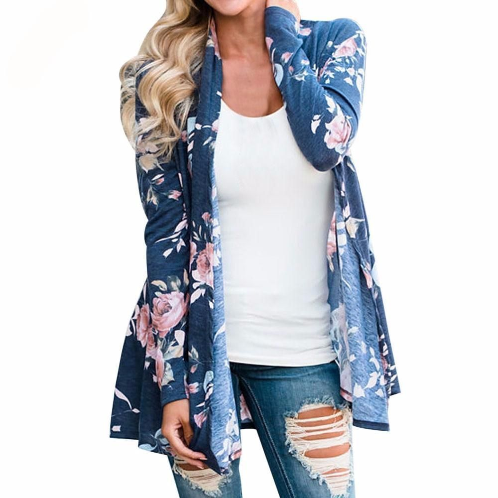 42ee1092c7 This is the perfect addition to any outfit. Pairs great with leggings as it  is long enough to cover all the right places! Beautiful black or blue  floral ...