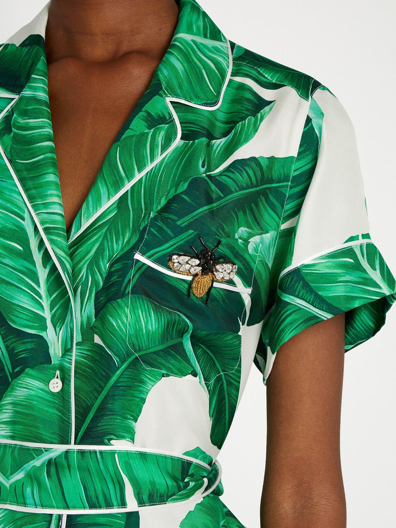 a2b641fd Banana leaf-print silk-twill shirt | Dolce & Gabbana | MATCHESFASHION.COM