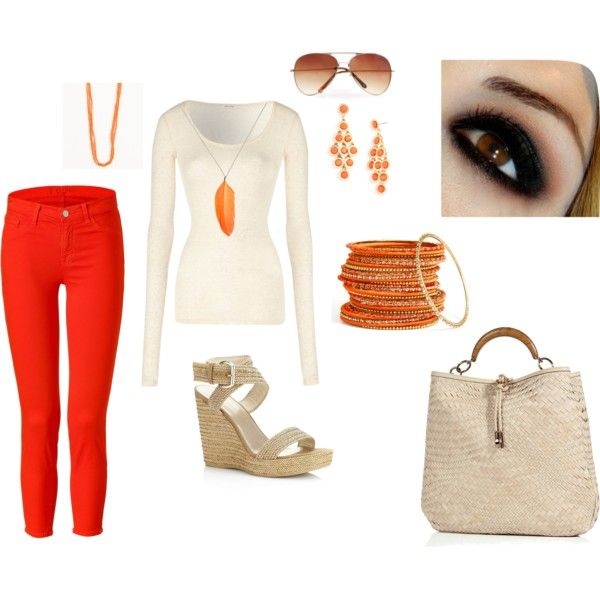 Orange Fantasy - OMG!!, created by andresol28 on Polyvore