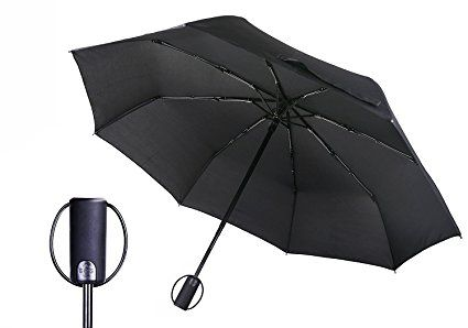 Travel Umbrella Automatic Compact Umbrella with Safe Lock Design, QH 8 Ribs  Lightweight Windproof Wat…   Compact umbrella, Umbrella, Tempered glass  screen protector
