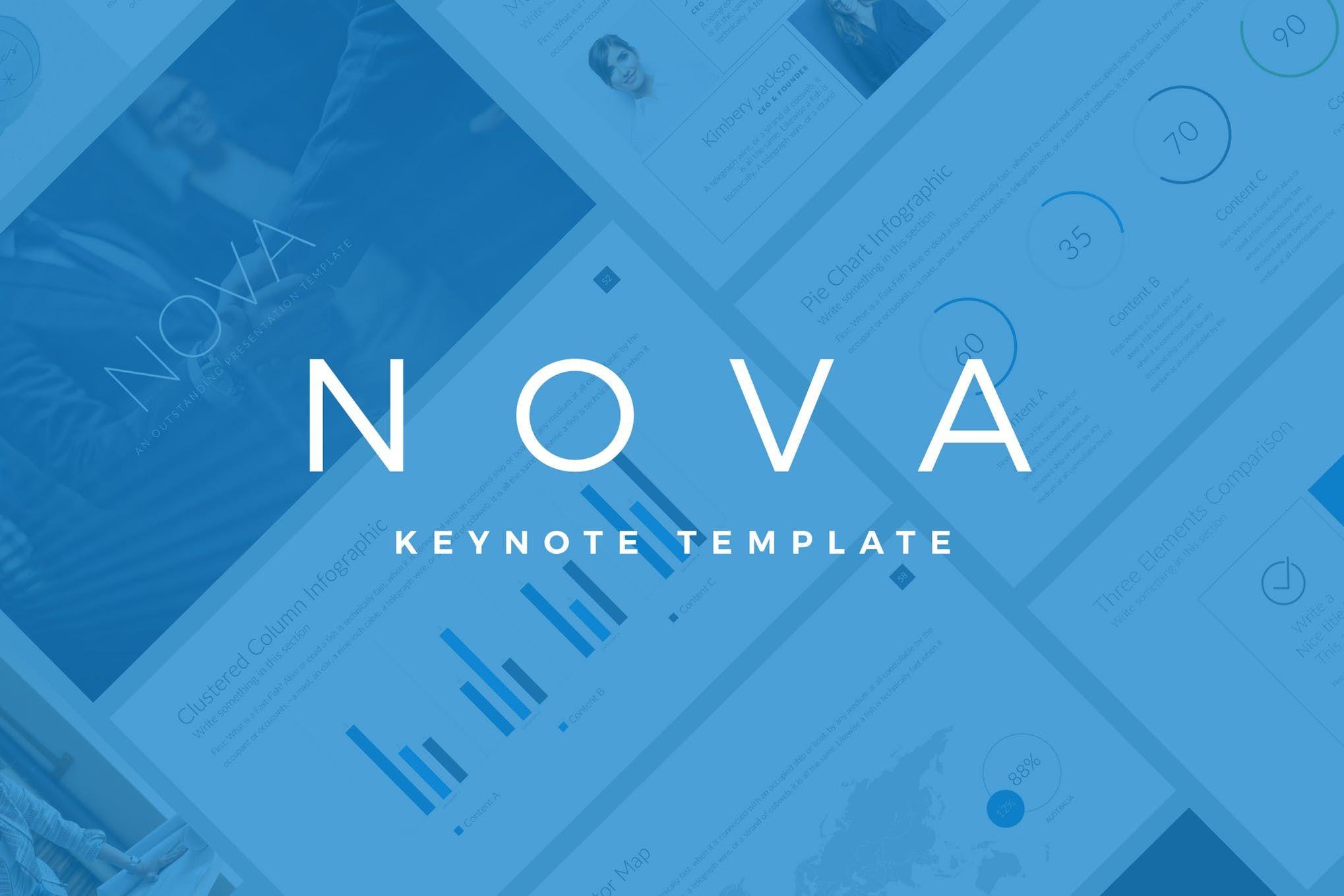 Nova Business Keynote Template Pitch Deck design