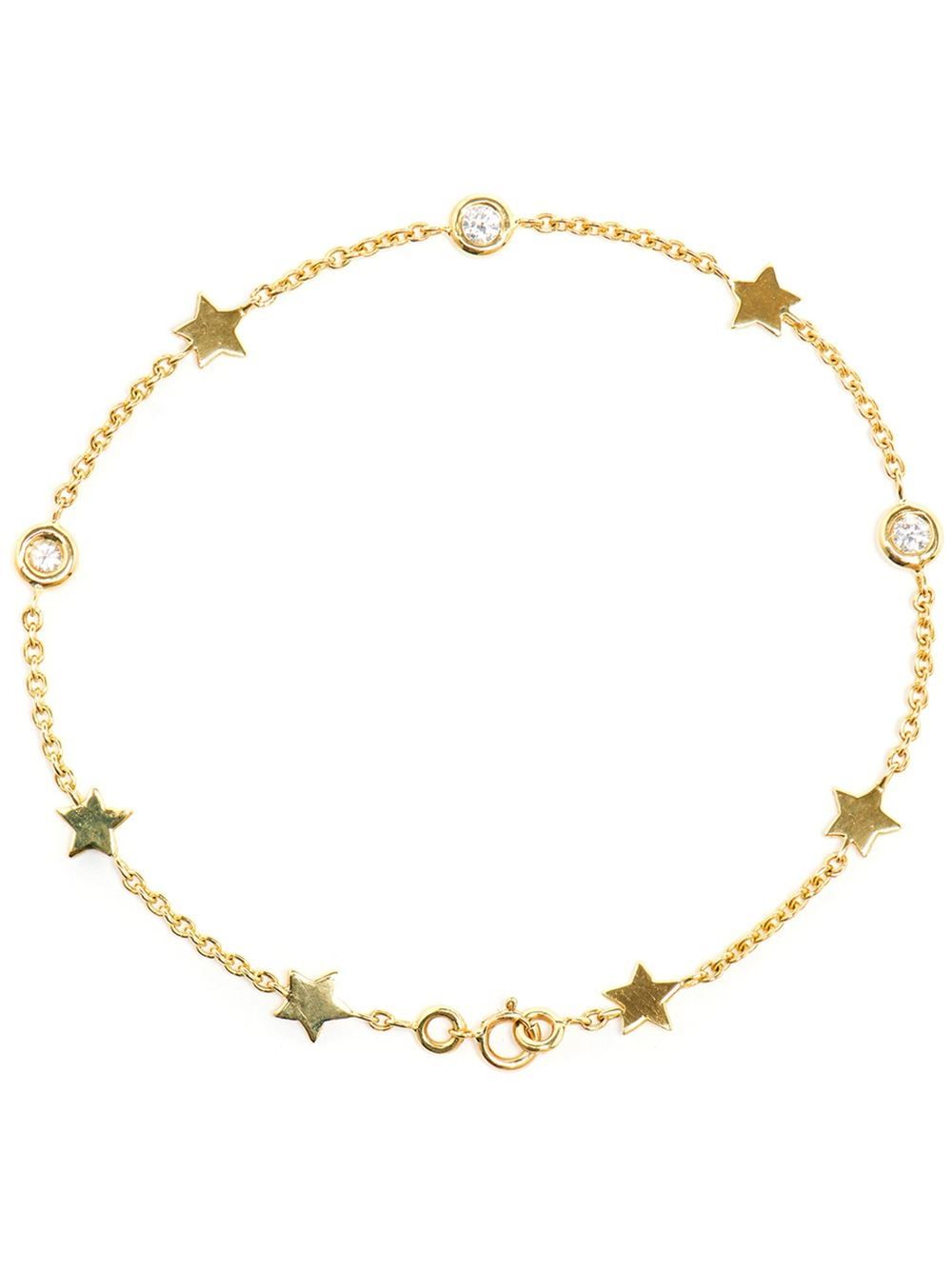Luis miguel howard kt gold and diamond star bracelet jewelry