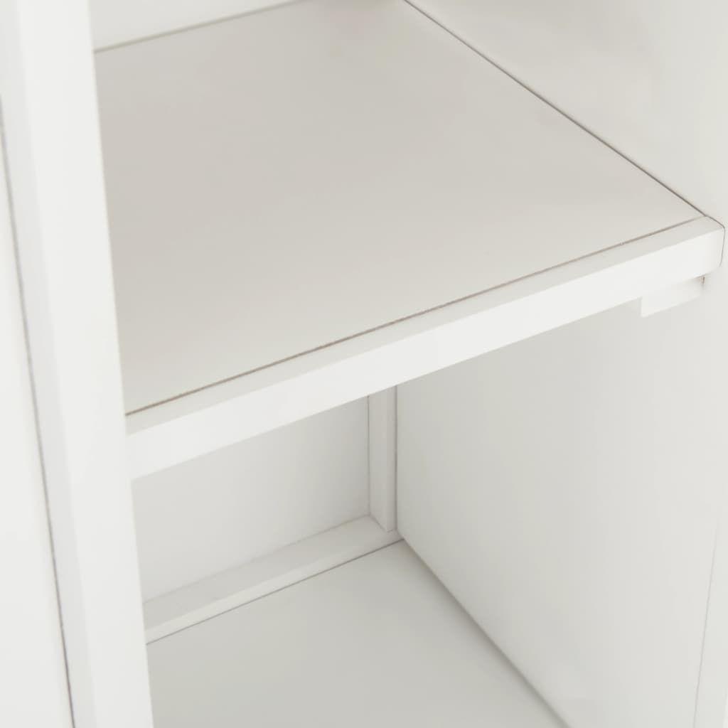 vidaXL Wine Cabinet 80x32x80 cm Solid Oak Wood