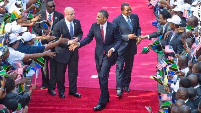 President Obama with President Jakaya Kikwete - Tanzania 2013