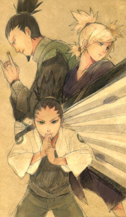 The Nara family would have some killer tactics, that's for sure!  Shikamaru, Temari, Shikadai.  #naruto