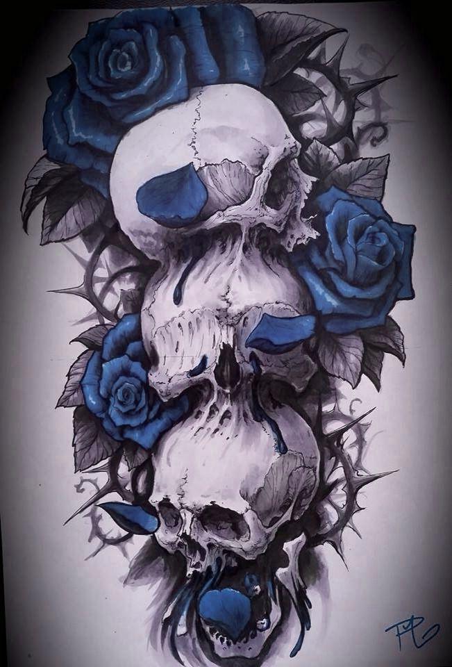 Rose Skull Skulls Pinterest Tattoos Skull Tattoos And Tattoo