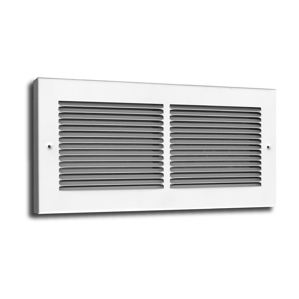 Truaire 30 In X 8 In Baseboard Return Grille 3 4 In Back White Baseboard Register Baseboards Grilles