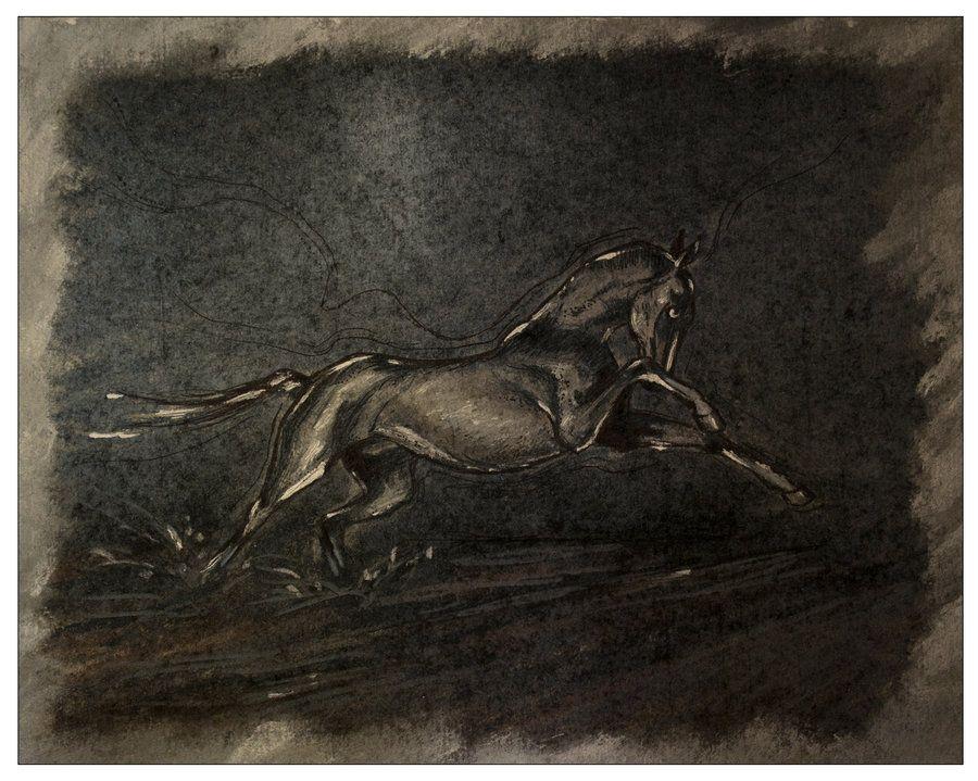 Silver stallion by erzsebet-beast.deviantart.com on @deviantART