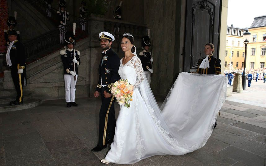 The Royal couple after the ceremony