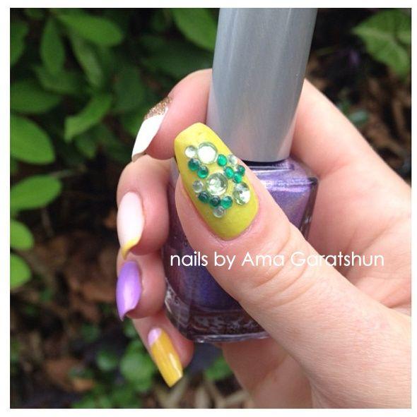 nail art by Ama Garatshun | Nails, Natural nails, Nail art