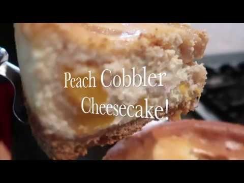 Peach  Cobbler Cheesecake ! - YouTube #peachcobblercheesecake