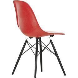 Photo of Eames Fiberglass Side Chair Stuhl Dsw Kunststoffgleitern classic red -Ahorn schwarz VitraVitra