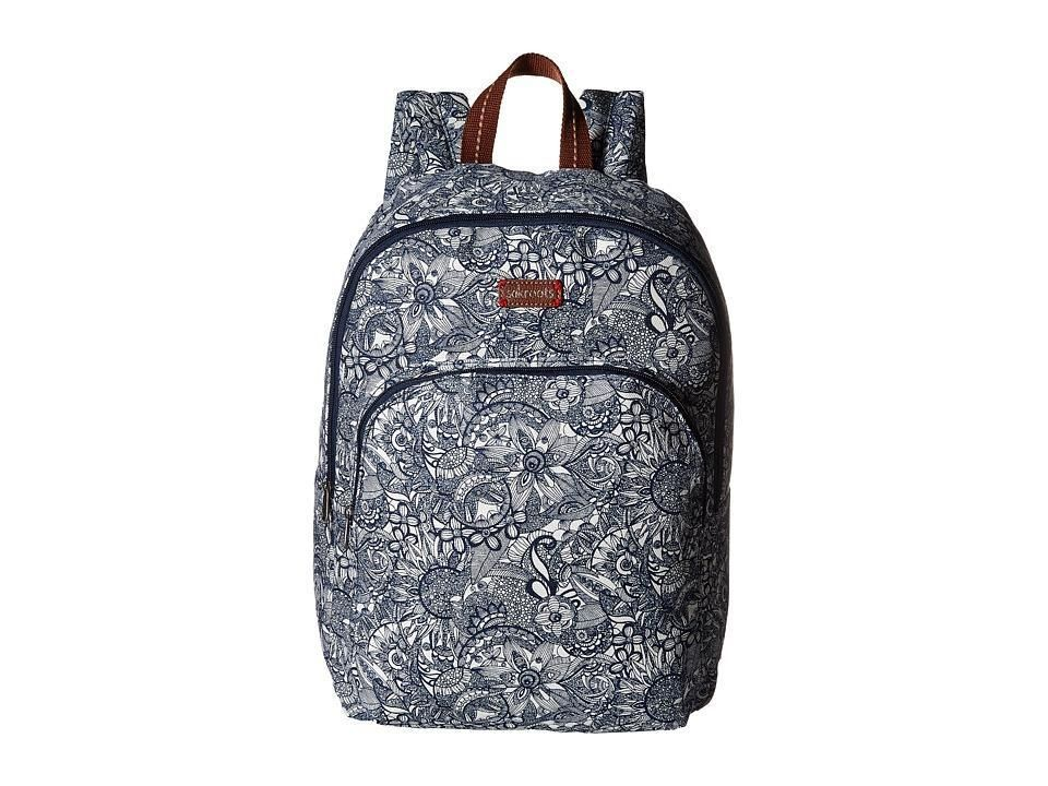 Sakroots - Artist Circle Medium Backpack (Navy Spirit Desert) Backpack Bags - Brought to you by Avarsha.com