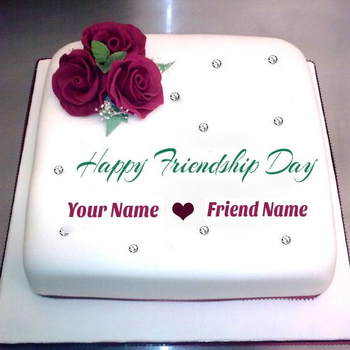 Things i love happy birthday dear pinterest happy friendship write your name on happy friendship day cake pictures bookmarktalkfo Choice Image
