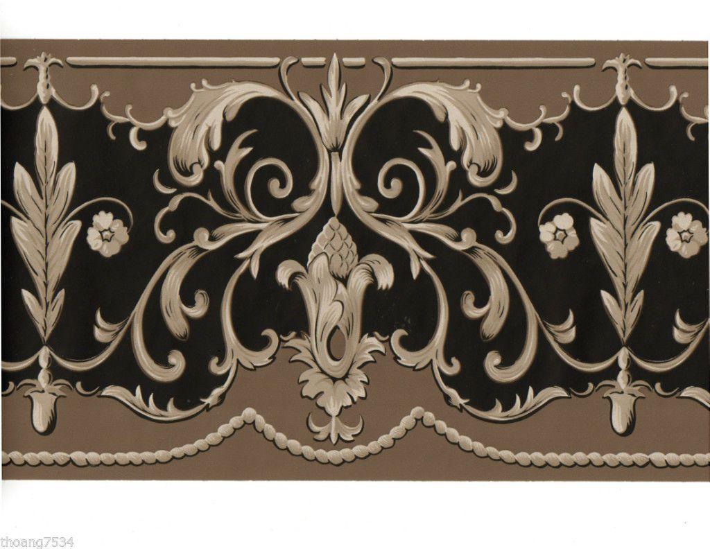 Best Victorian Wallpaper Borders Victorian Scroll Swirl Leaf 400 x 300
