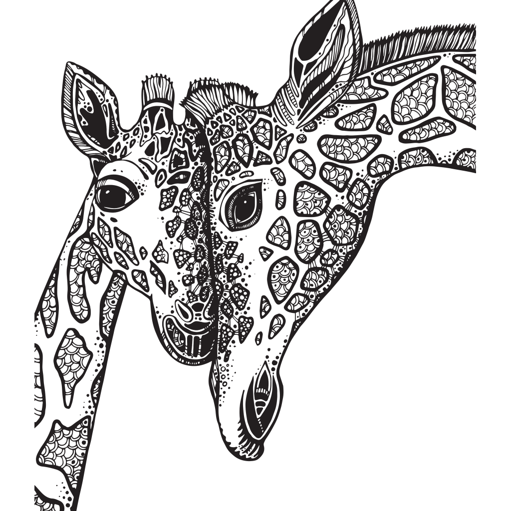 adult coloring book giraffe sketch coloring page - Giraffe Color Page