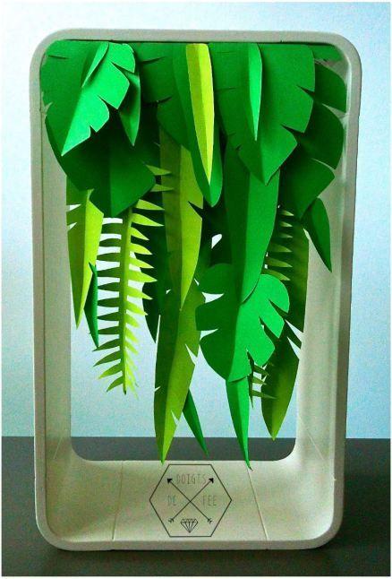 DIY cascade végétale   Foliage cascade - Les doigts 2 fée