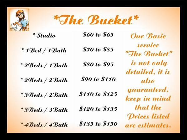 Basic Cleaning Service Price List