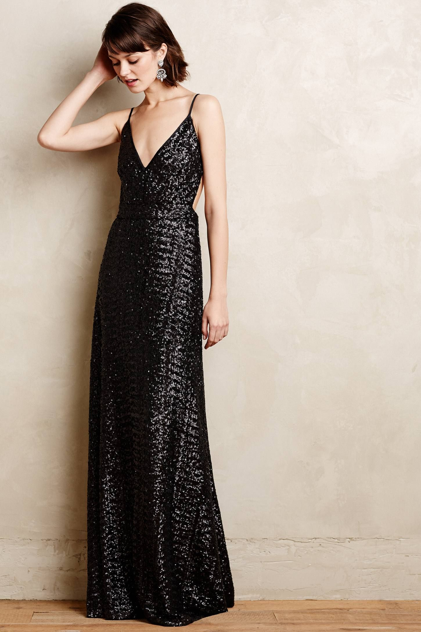 Starlight sequin gown anthropologie fashion cocktail