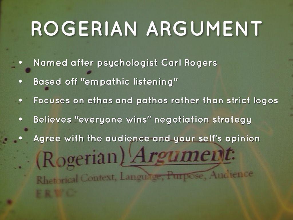 Rogerian essay outline