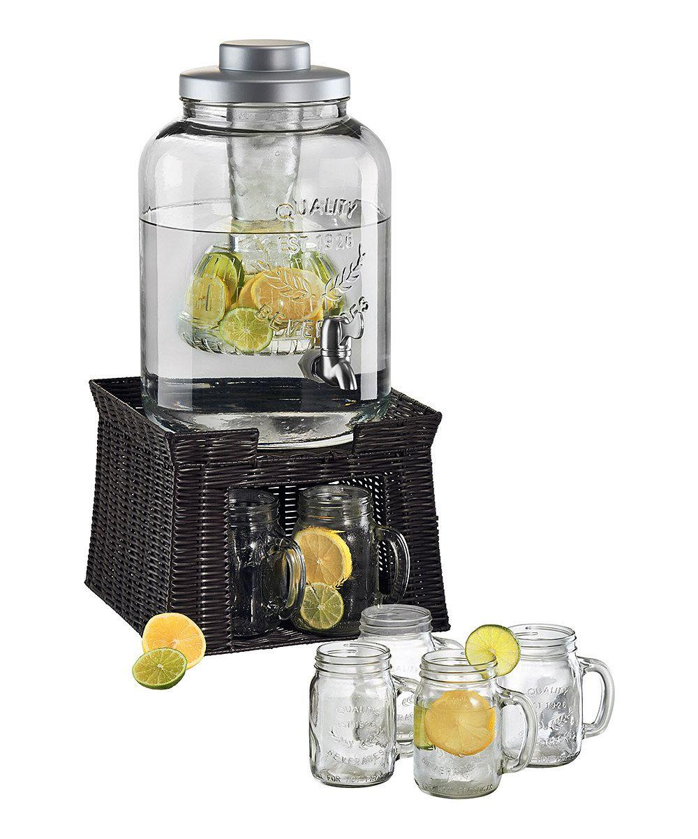Mason Jar Dispenser With Stand