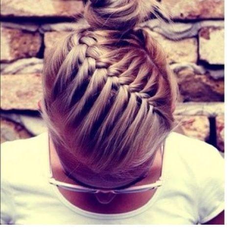 Neat and tidy braid on pose hairspiration pinterest hair french braid bun so cute ccuart Choice Image