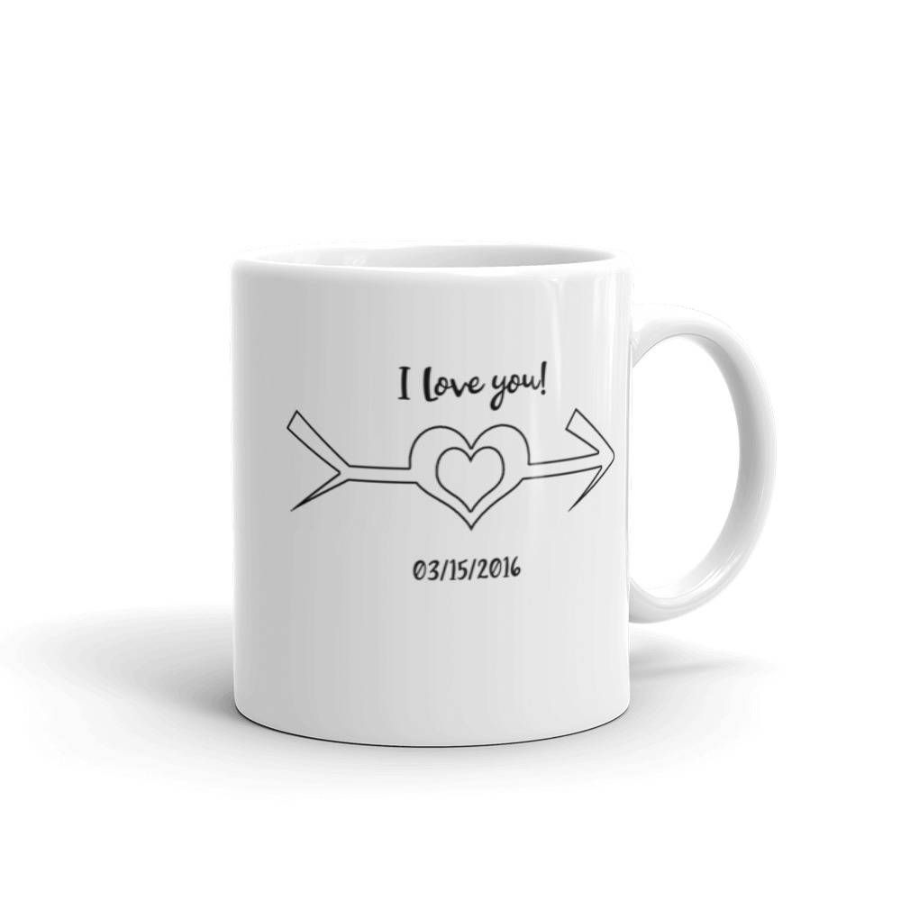 Paintable personalized valentines day mug personalized