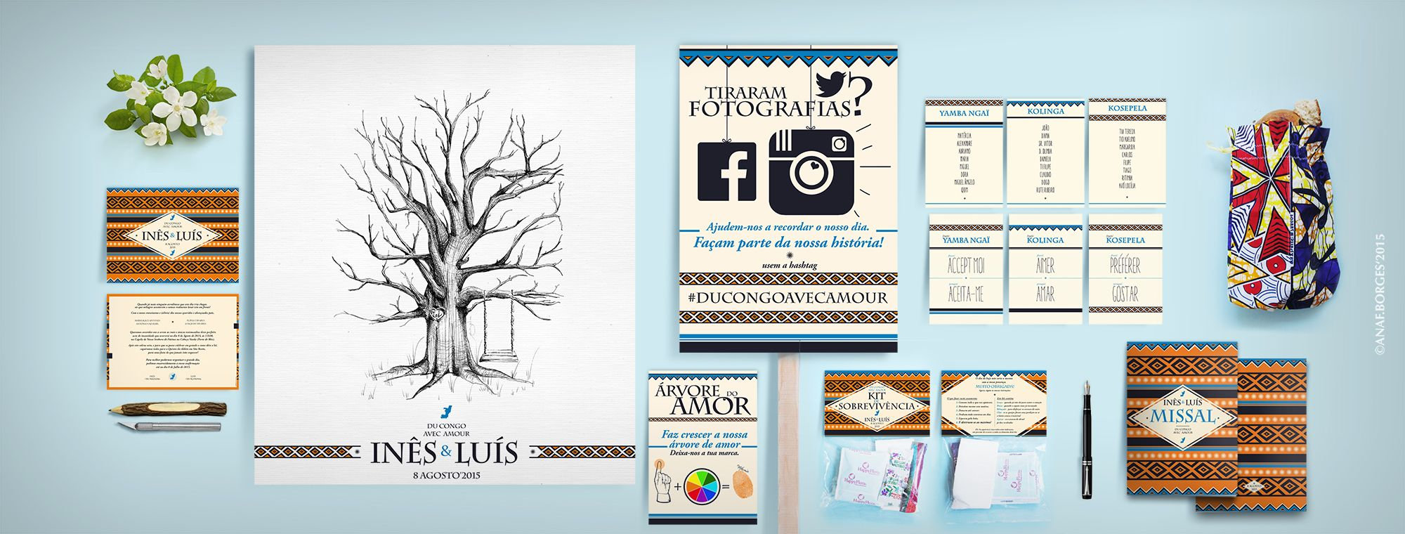 ~ Wedding Graphic Identity ~  for Inês & Luís. #ducongoavecamour