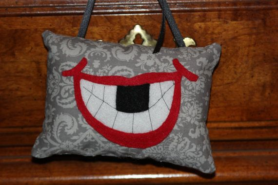 Tooth Fairy Pillow by LittleLutessa on Etsy, love the cuteness of the grin....perfect for the little ones!